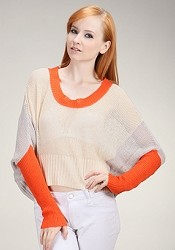 Color Splashed Knit