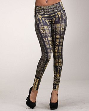 African Kemet Pattern Leggings