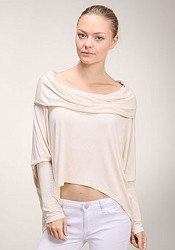 Cowl Drape Stretch Top