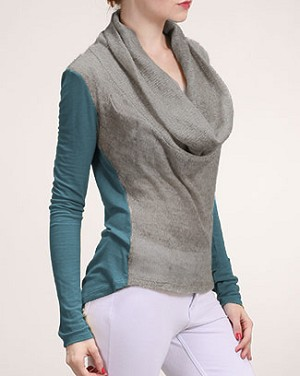 Cowl Neck Sweater Tee