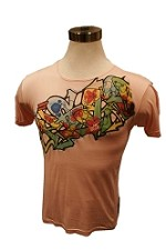 Italian Faux Silk Urban Art Tee